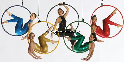 Olympic Themed Aerial Acrobatic Acts