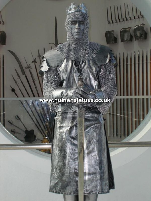 Knight Human Living Statue