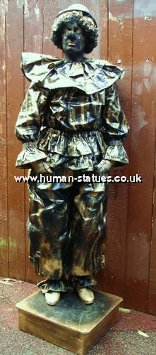 Clown Human Living Statue