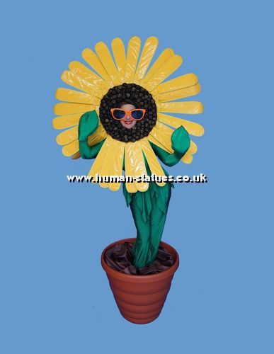Sunflower Human Living Statue