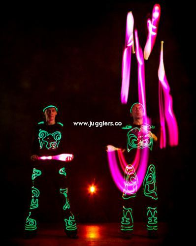 Glow LED light jugglers