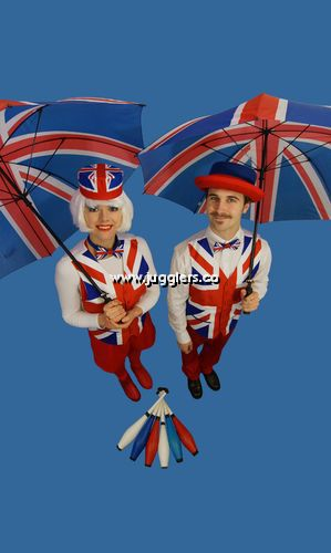 British Themed Jugglers